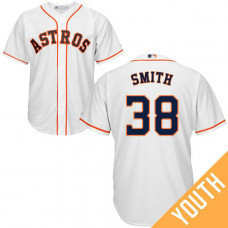 YOUTH Houston Astros #38 Joe Smith Home White Cool Base Jersey