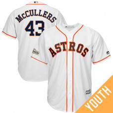 YOUTH Lance McCullers #43 Houston Astros 2017 Postseason White Cool Base Jersey