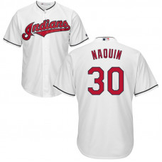 YOUTH Cleveland Indians Tyler Naquin #30 Home White Cool Base Jersey