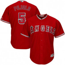 YOUTH Los Angeles Angels #5 Albert Pujols Replica Alternate Scarlet Cool Base Jersey