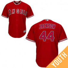 YOUTH Reggie Jackson #44 Los Angeles Angels Authentic Alternate Red Cool Base Jersey