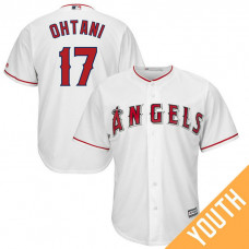 YOUTH Los Angeles Angels #17 Shohei Ohtani Home White Cool Base Jersey
