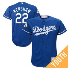 YOUTH Clayton Kershaw #22 Los Angeles Dodgers 2017 World Series Bound Royal Cool Base Jersey