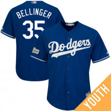 YOUTH Cody Bellinger #35 Los Angeles Dodgers 2017 Postseason Royal Cool Base Jersey