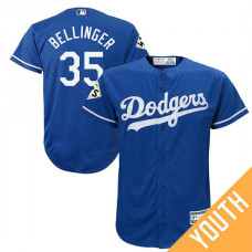 YOUTH Cody Bellinger #35 Los Angeles Dodgers 2017 World Series Bound Royal Cool Base Jersey