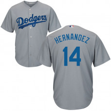 YOUTH Los Angeles Dodgers Enrique Hernandez #14 Road Grey Cool Base Jersey