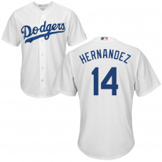 YOUTH Los Angeles Dodgers Enrique Hernandez #14 Home White Cool Base Jersey