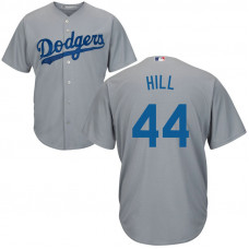 YOUTH Los Angeles Dodgers Rich Hill #44 Alternate Grey Cool Base Jersey