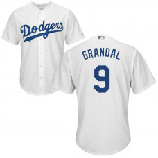 YOUTH Los Angeles Dodgers Yasmani Grandal #9 Home White Cool Base Jersey
