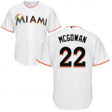 YOUTH Miami Marlins #22 Dustin McGowan Home White Cool Base Jersey