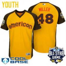 YOUTH 2016 All-Star American New York Yankees Andrew Miller #48 Yellow Cool Base Jersey