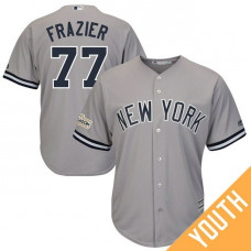YOUTH Clint Frazier #77 New York Yankees 2017 Postseason Grey Cool Base Jersey