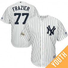 YOUTH Clint Frazier #77 New York Yankees 2017 Postseason White Cool Base Jersey