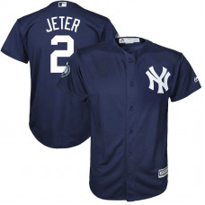 YOUTH New York Yankees #2 Derek Jeter Number Retirement Day Fashion Navy Cool Base Jersey