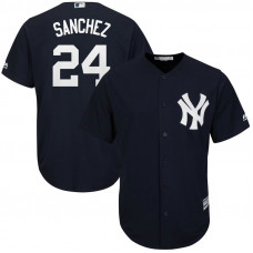 YOUTH New York Yankees #24 Gary Sanchez Replica Fashion Navy Cool Base Jersey