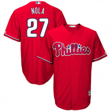 YOUTH Philadelphia Phillies #27 Aaron Nola Replica Scarlet Cool Base Jersey