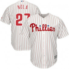 YOUTH Philadelphia Phillies #27 Aaron Nola Home White Cool Base Jersey