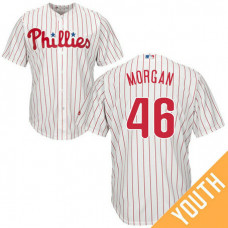 YOUTH Philadelphia Phillies #46 Adam Morgan Home White Cool Base Jersey