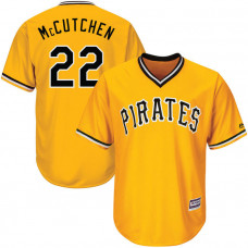 YOUTH Pittsburgh Pirates Andrew McCutchen #22 Gold Official Throwback Cool Base Jersey