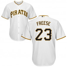 YOUTH Pittsburgh Pirates #23 David Freese Home White Cool Base Jersey