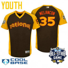 YOUTH 2016 All-Star National Pittsburgh Pirates Mark Melancon #35 Brown Cool Base Jersey
