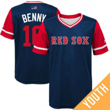 YOUTH Boston Red Sox Andrew Benintendi #16 Benny Navy Nickname 2017 Little League Players Weekend Jersey