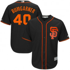 YOUTH San Francisco Giants #40 Madison Bumgarner Alternate Black Cool Base Jersey