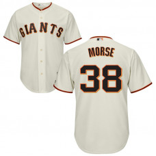 YOUTH San Francisco Giants #38 Michael Morse Home Cream Cool Base Jersey