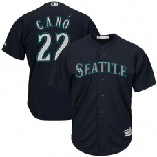 YOUTH Robinson Cano #22 Seattle Mariners Alternate Navy Cool Base Jersey