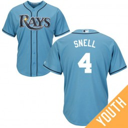 YOUTH Tampa Bay Rays #4 Blake Snell Alternate Light Blue Cool Base Jersey