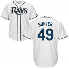 YOUTH Tampa Bay Rays #49 Tommy Hunter Home White Cool Base Jersey