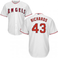 YOUTH Los Angeles Angels Garrett Richards #43 White Authentic Cool base Jersey