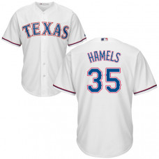 YOUTH Texas Rangers Cole Hamels #35 White Authentic Cool base Jersey