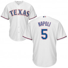 YOUTH Texas Rangers #5 Mike Napoli Home White Cool Base Jersey