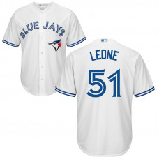 YOUTH Toronto Blue Jays #51 Dominic Leone Home White Cool Base Jersey