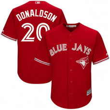 YOUTH Toronto Blue Jays #20 Josh Donaldson Alternate Scarlet Cool Base Jersey