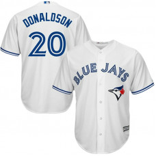 YOUTH Toronto Blue Jays #20 Josh Donaldson Home White Cool Base Jersey