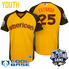 YOUTH 2016 All-Star American Toronto Blue Jays Marco Estrada #25 Yellow Cool Base Jersey