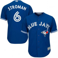 YOUTH Toronto Blue Jays #6 Marcus Stroman Alternate Royal Cool Base Jersey