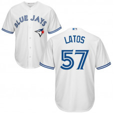 YOUTH Toronto Blue Jays #57 Mat Latos Home White Cool Base Jersey