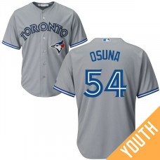 YOUTH Toronto Blue Jays #54 Roberto Osuna Road Grey Cool Base Jersey
