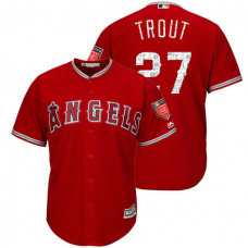 Los Angeles Angels #27 Mike Trout Scarlet 2018 Spring Training Cool Base Player Jersey