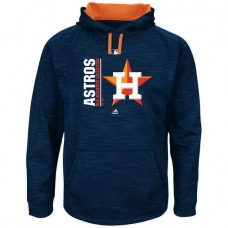 Astros Authentic Collection Team Icon Streak Fleece Navy Pullover Hoodie