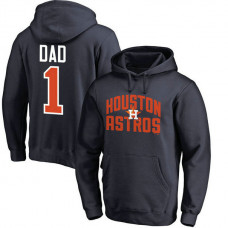 Houston Astros Father's Day Navy #1 Dad Player Pullover Hoodie