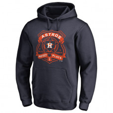 Astros Police Badge Navy Pullover Hoodie