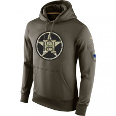 Houston Astros Salute To Service Olive Hoodie