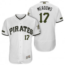 Pittsburgh Pirates #17 Austin Meadows White 2018 Home Alternate Authentic Collection Flex Base Jersey