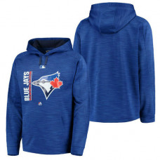 Blue Jays Authentic Collection Team Icon Streak Fleece Royal Pullover Hoodie