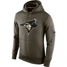 Toronto Blue Jays Salute To Service Olive Hoodie