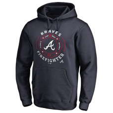 Braves Firefighter Navy Pullover Hoodie